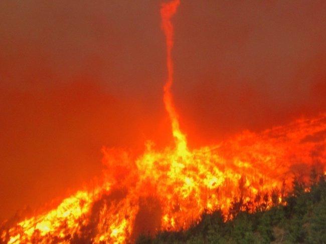 Огненный торнадо наука, пророда, сверхъестественные явления