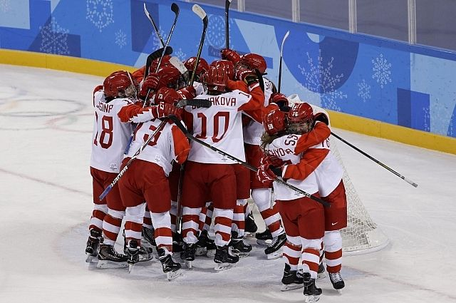 Российские хоккеистки пробились в полуфинал на ОИ-2018