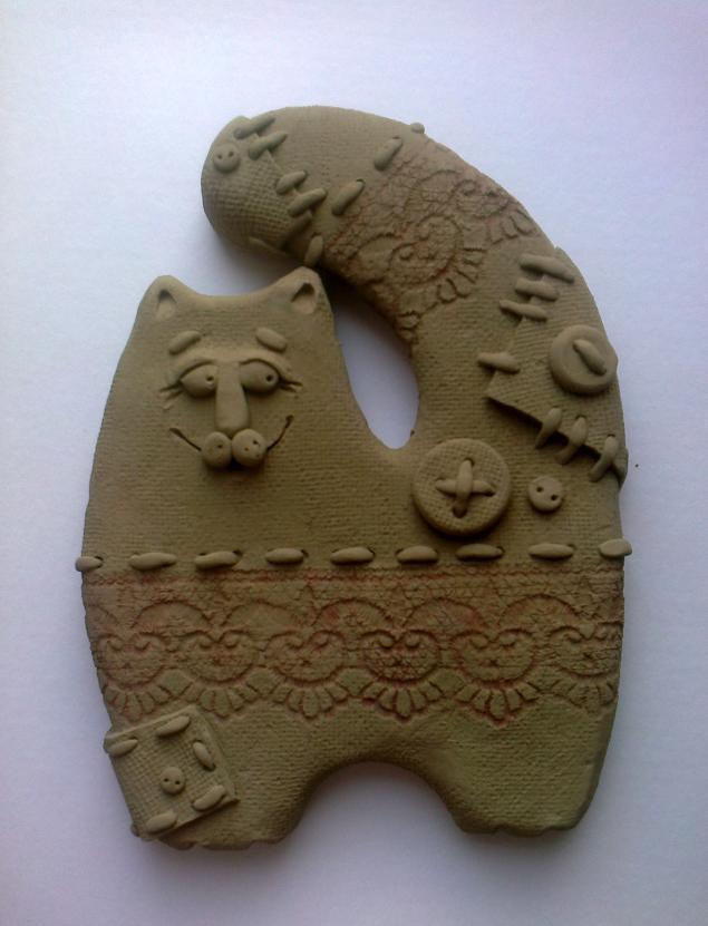 Керамический кот Прянечка. Мастер-класс