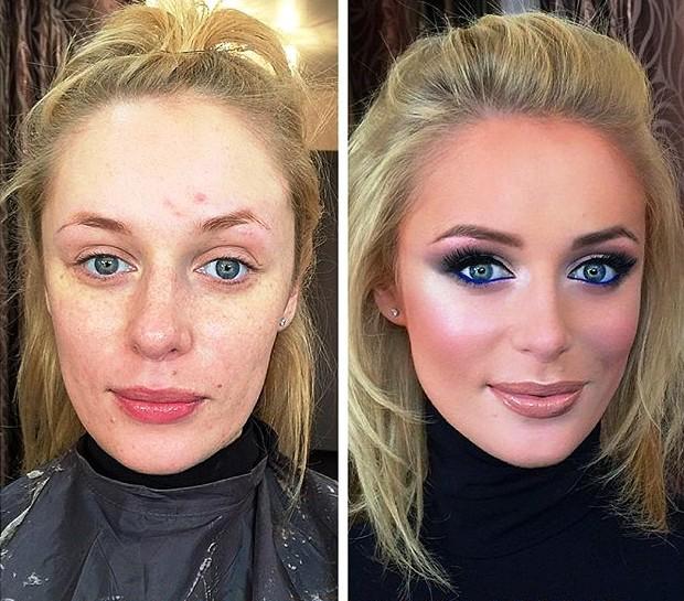 Вы только посмотрите, насколько сильно меняет девушку умело сделанный макияж. Это невероятно!