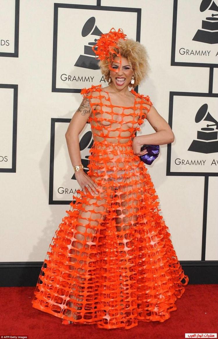 Веселая Джой Вилла на церемонии «Грэмми», 2015 год история, платье