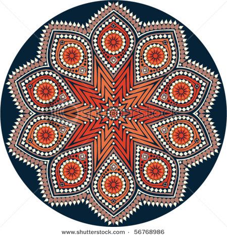 Узоры для росписи тарелочек (цветные)