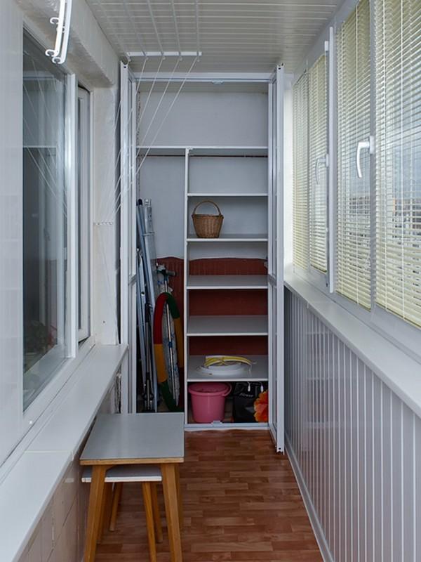 Как сделать встроенный шкаф на балкон своими руками