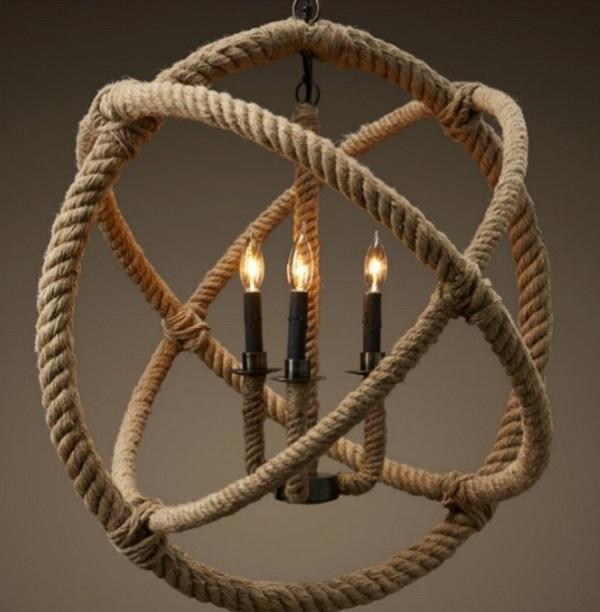 Декор дома веревкой