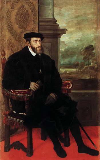 Тициан. Портрет императора Карла V в кресле