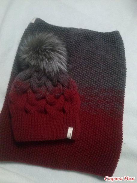 Вяжем теплые комплекты - шап…