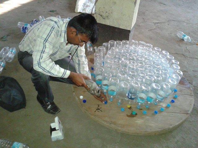 Столик из пластиковых бутылок своими руками мастер класс