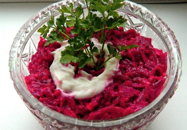 свекольный салат с чесноком рецепт с фото