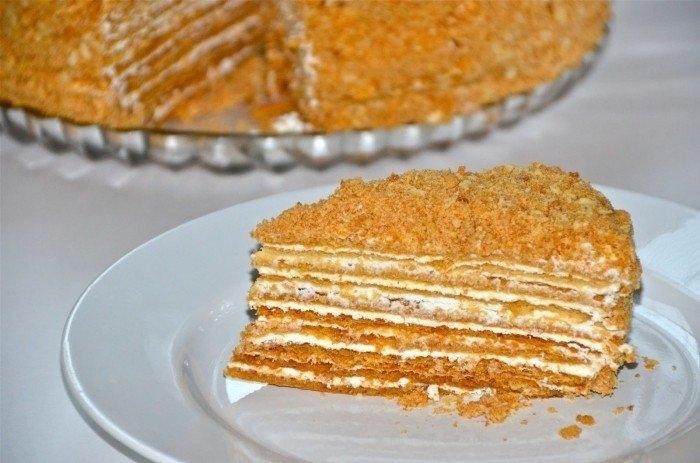 Рецепт торта с медом с фото