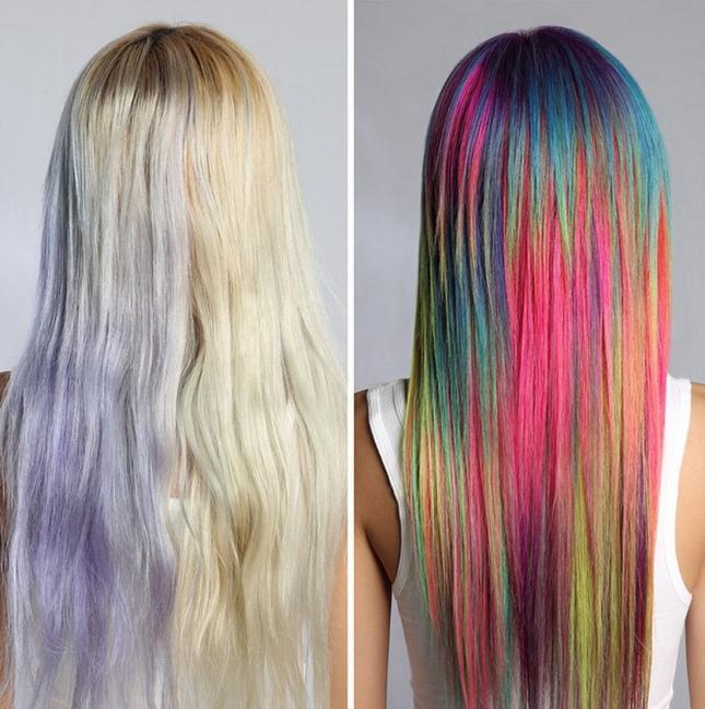 Яркие краски для волос 6