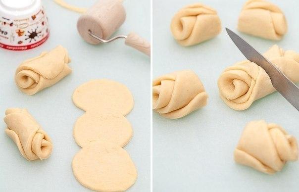 Фото к рецепту: Творожные розочки. Рецепт десерта для детей