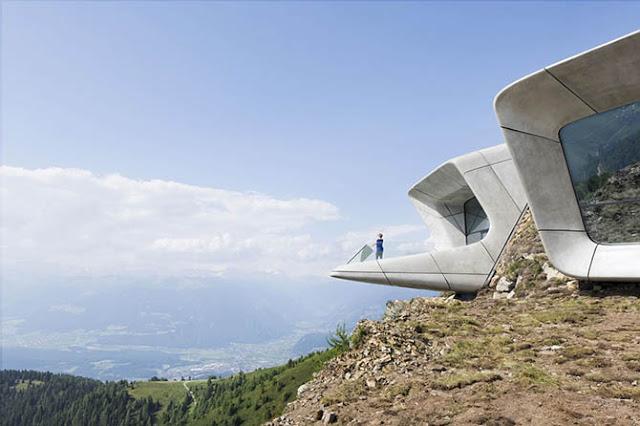 Музей с видом на знаменитые альпийские вершины