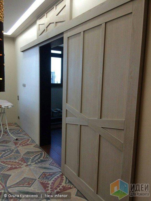 Раздвижная дверь в интерьере, раздвижная дверь на заказ