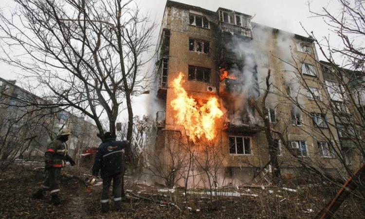 украинские силовики обстреляли Донецк