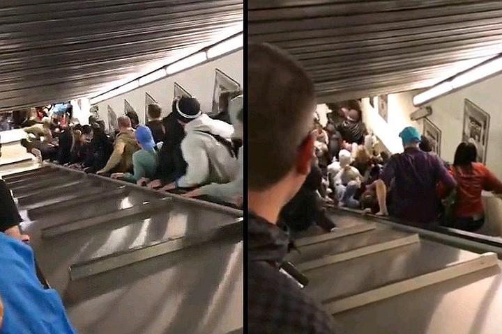 В Риме вышел из строя эскалатор с болельщиками ЦСКА: пострадали восемь человек