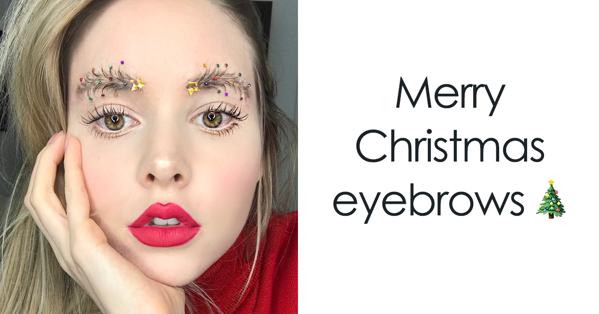 People Are Turning Their Eyebrows Into Christmas Trees, And The Result Is Truly Festive