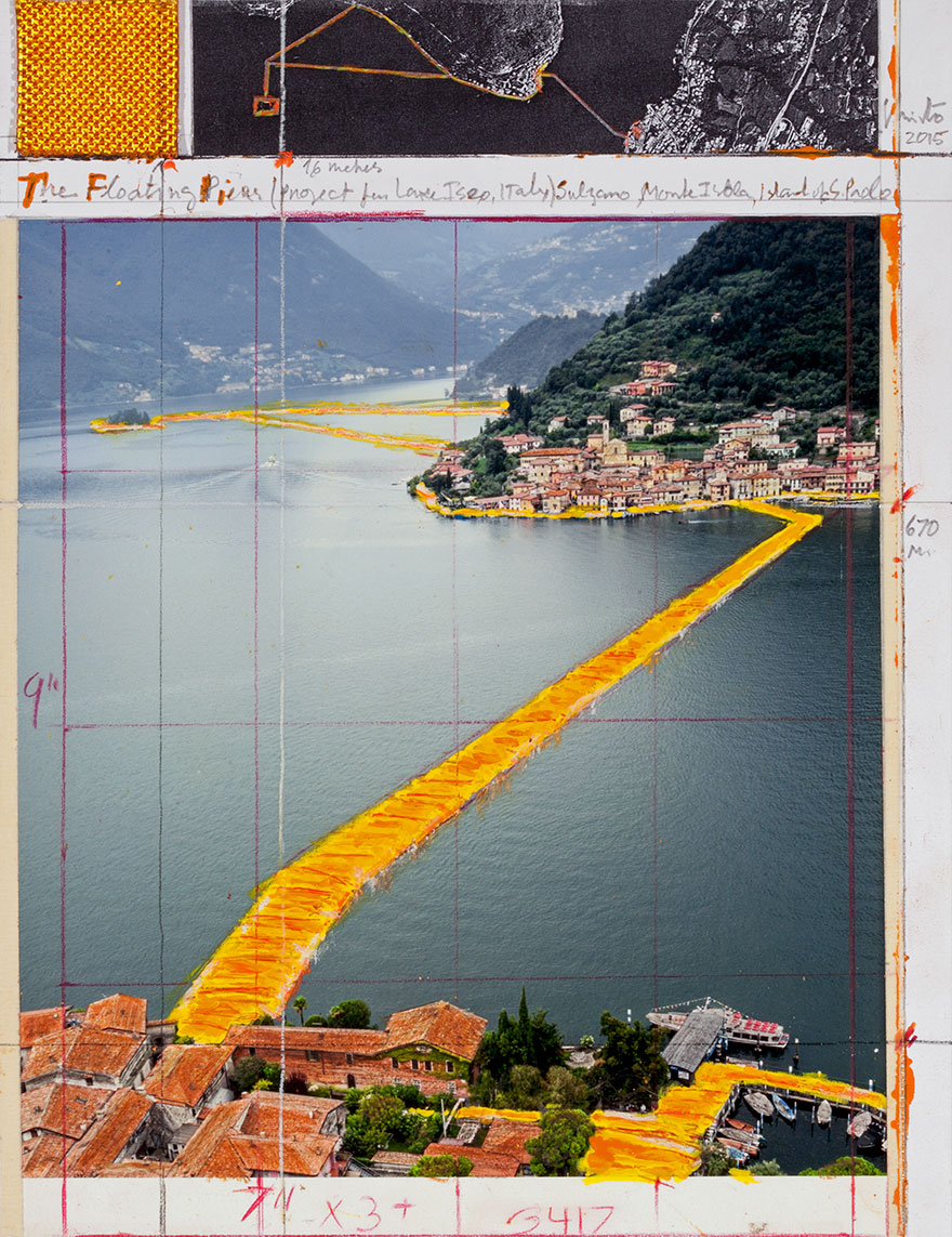 Artists Are Building Water Walkway Across Lake Iseo, Italy