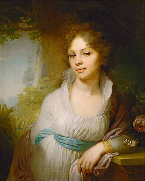 «Портрет М.И. Лопухиной» девушки, живопись, история, картины, портреты