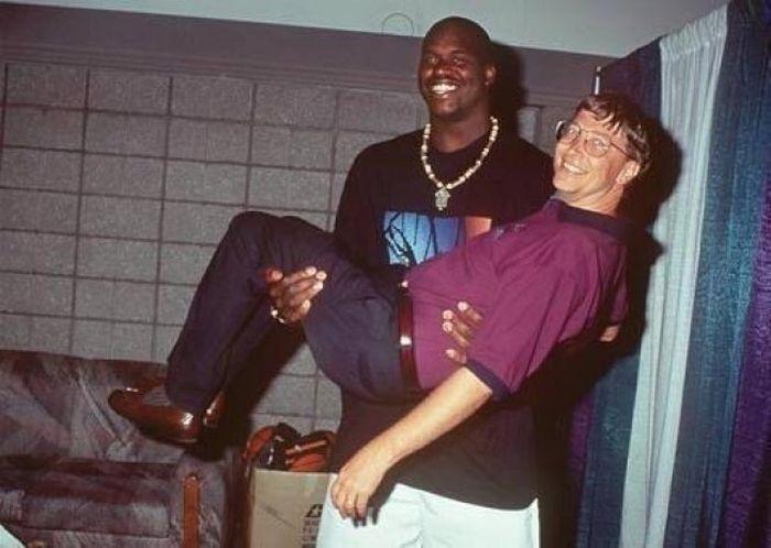 Шакил О'Нил и Билл Гейтс, 1999