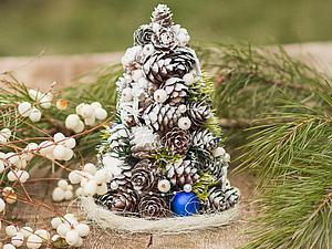 Делаем новогоднюю елочку из шишек | Ярмарка Мастеров - ручная работа, handmade