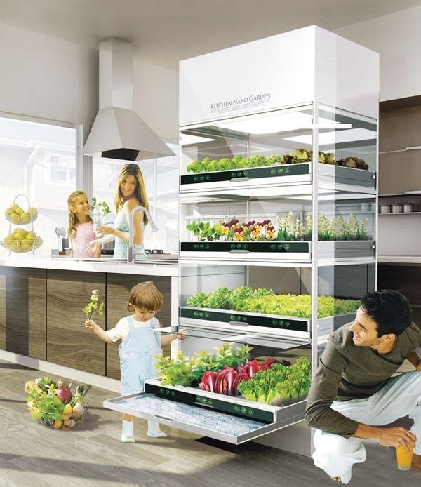 Концепт кухонного наносада от Hyundai. Фото с сайта http://www.favething.com