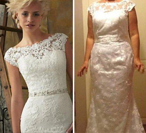 Ожидание vs. реальность: свадебные платья из Интернет-магазинов