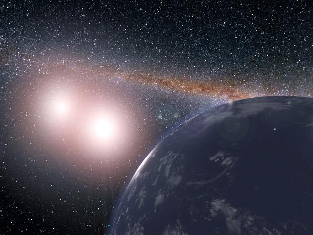 Планеты возле двойных звезд могут иметь пригодные для жизни луны