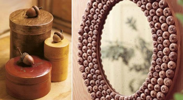 осенние поделки из каштанов и желудей