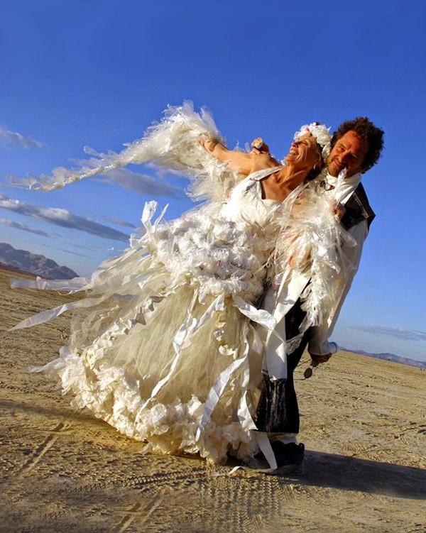 19. Свадебное платье из полиэтилена Свадебные платья, свадьба