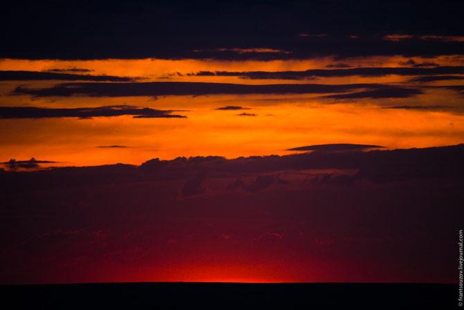 Аральское море. Занесённые песком