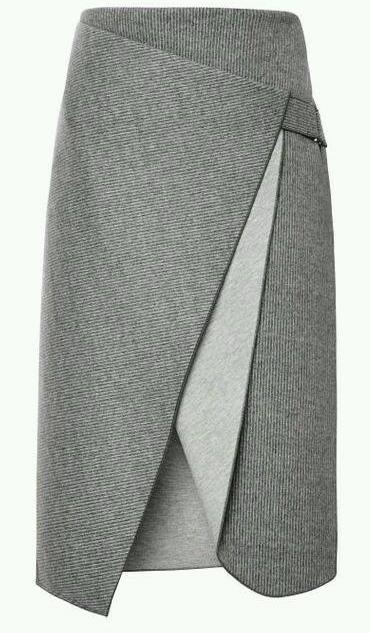 Выкройка юбки с запахом 54 размера