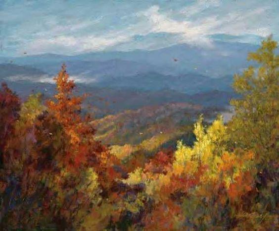Осень только взялась за работу... Американский художник Jim Gray
