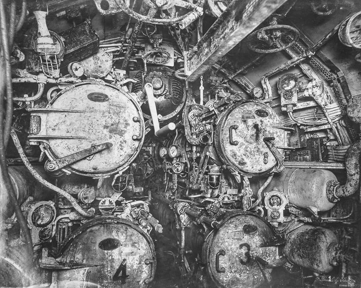 Внутри немецкой подводной лодки времен Первой мировой войны