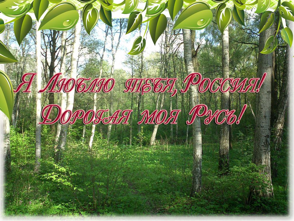 Я Люблю тебя, Россия! Дорогая моя Русь!