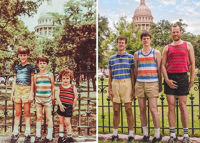 Люди воспроизвели свои детские фотографии, и они получились невероятно милыми