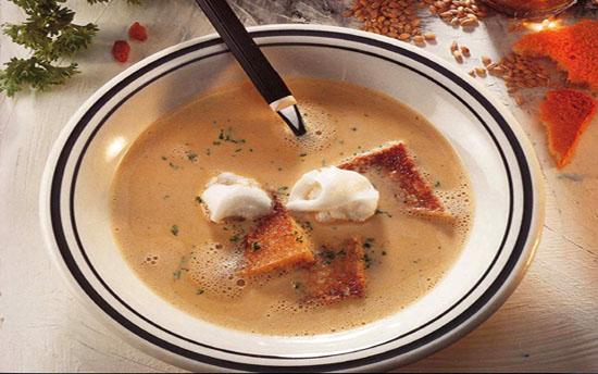 Немецкий суп с сухофруктами и голушками с теста
