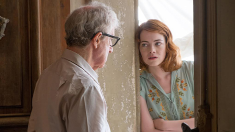 Woody Allen and Emma Stone making Magic together