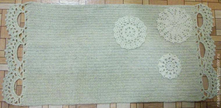 Как связать традиционный деревенский коврик на новый лад