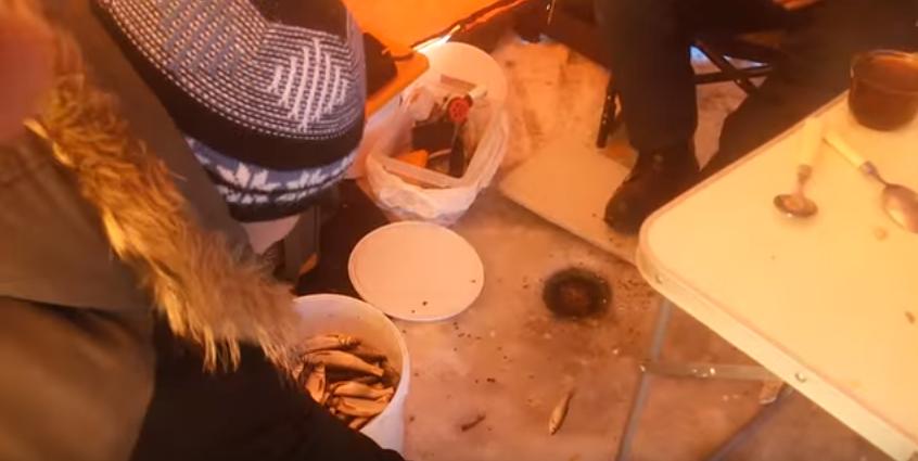 Рыбачили мы в палатке и тут …