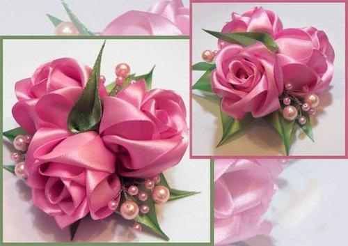 Как сделать розу из шелковой ленты (мастер-класс)