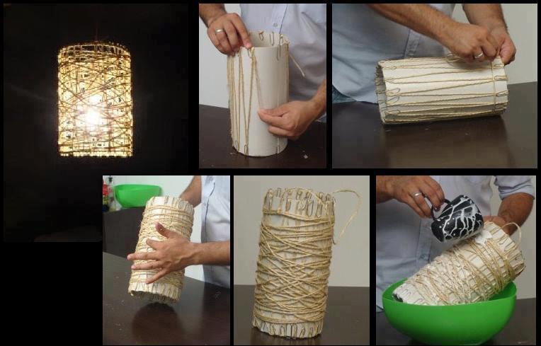 Как сделать светильник из ниток
