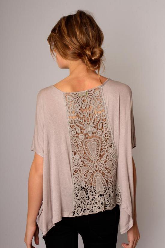 Блузка с кружевом своими руками