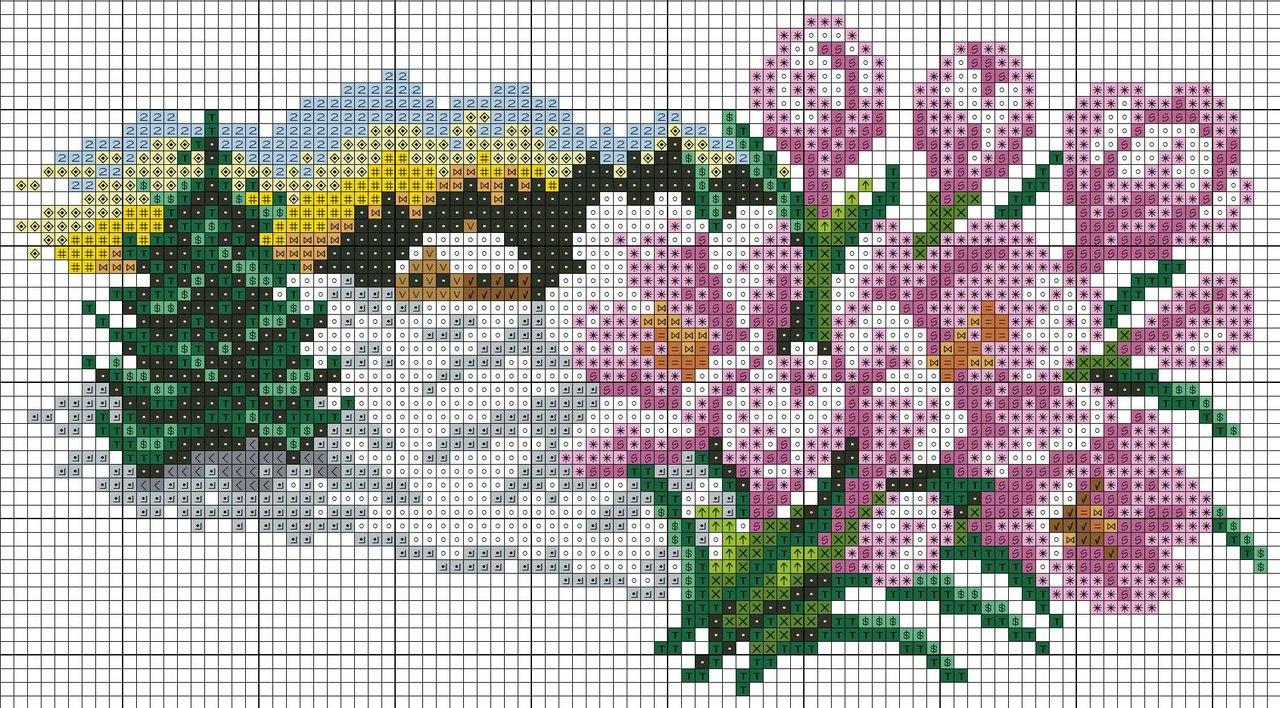 Схема весна вышивка крестом