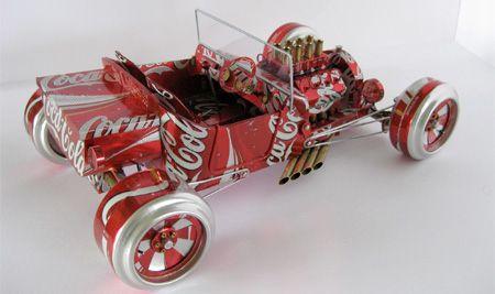 машина из алюминиевых банок