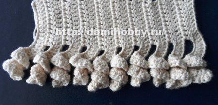 Вязание объемных розочек крючком