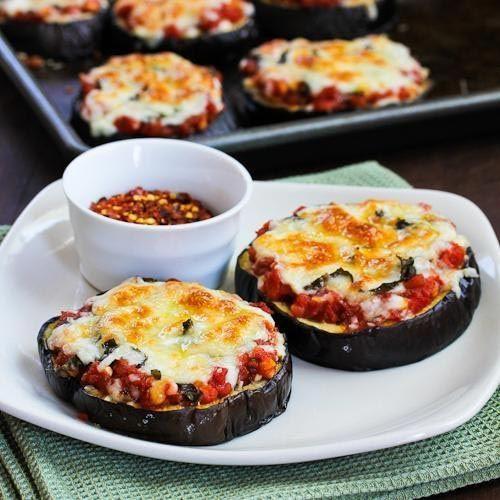 Баклажановая пицца  еда, овощи