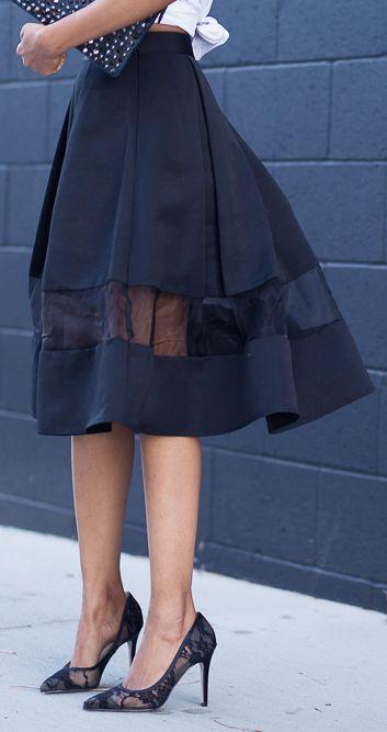 Как надставить юбку
