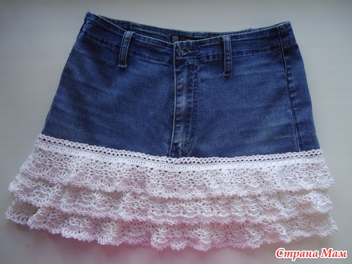 Очумелые ручки. У кого есть старые джинсы? Делаем юбку.