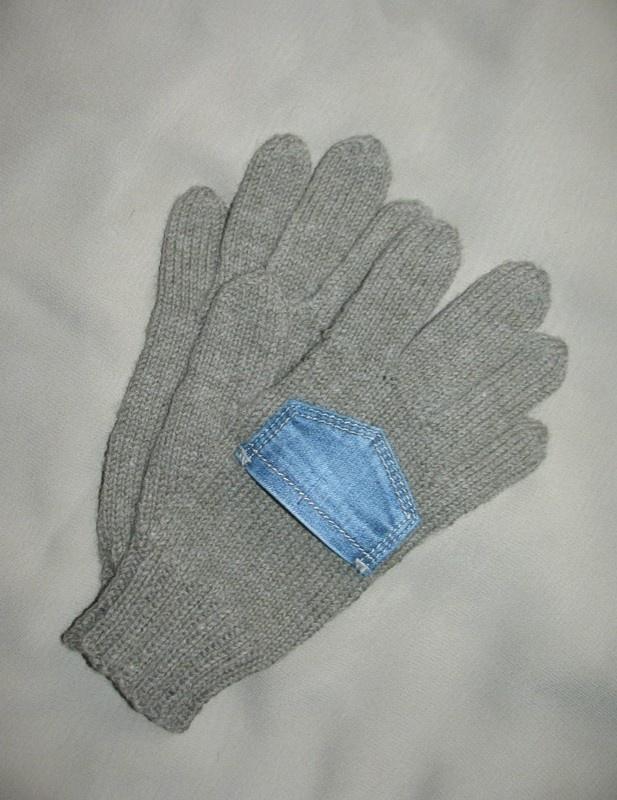 Перчатки с кармашком