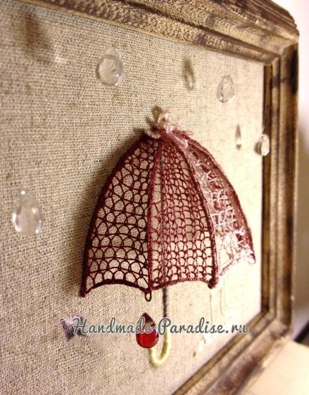 Объемная вышивка «Зонтик». Мастер-класс